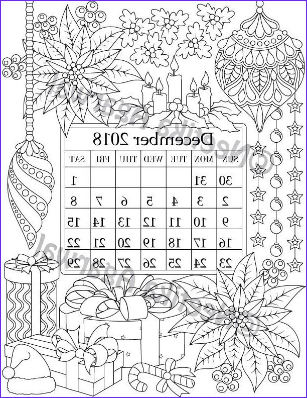 Coloring Calendar 2018 Awesome Photography December 2018 Coloring Page Calender Planner Doodle