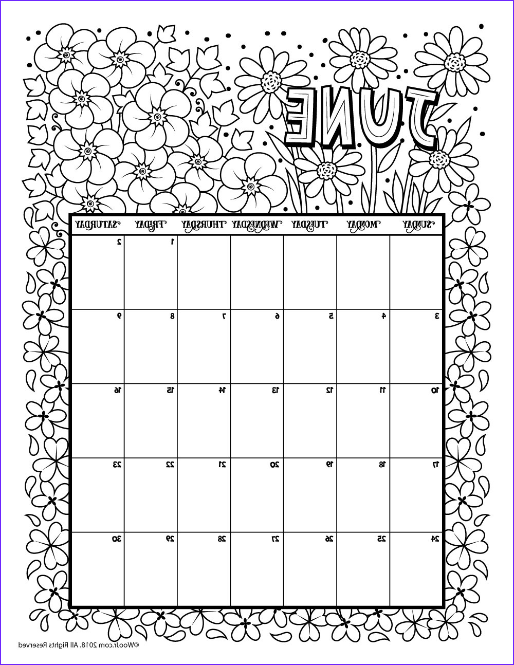 Coloring Calendar 2018 Best Of Photos June 2018 Coloring Calendar Page