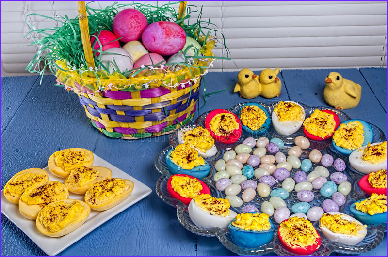 Coloring Deviled Eggs Inspirational Collection Deviled Eggs Easter Colored Candy Stock Image Image