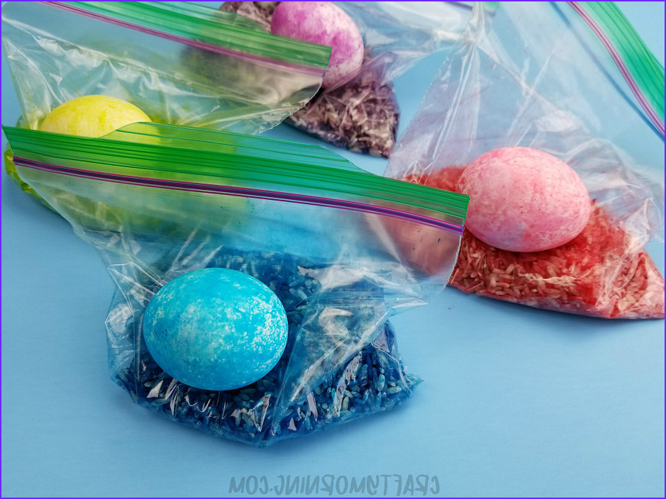 Coloring Easter Eggs with Rice Beautiful Images Rice Shake Easter Eggs In Ziploc Bags Easter
