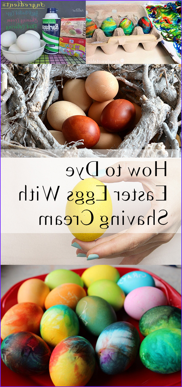 Coloring Easter Eggs with Shaving Cream Beautiful Gallery How to Dye Easter Eggs with Shaving Cream