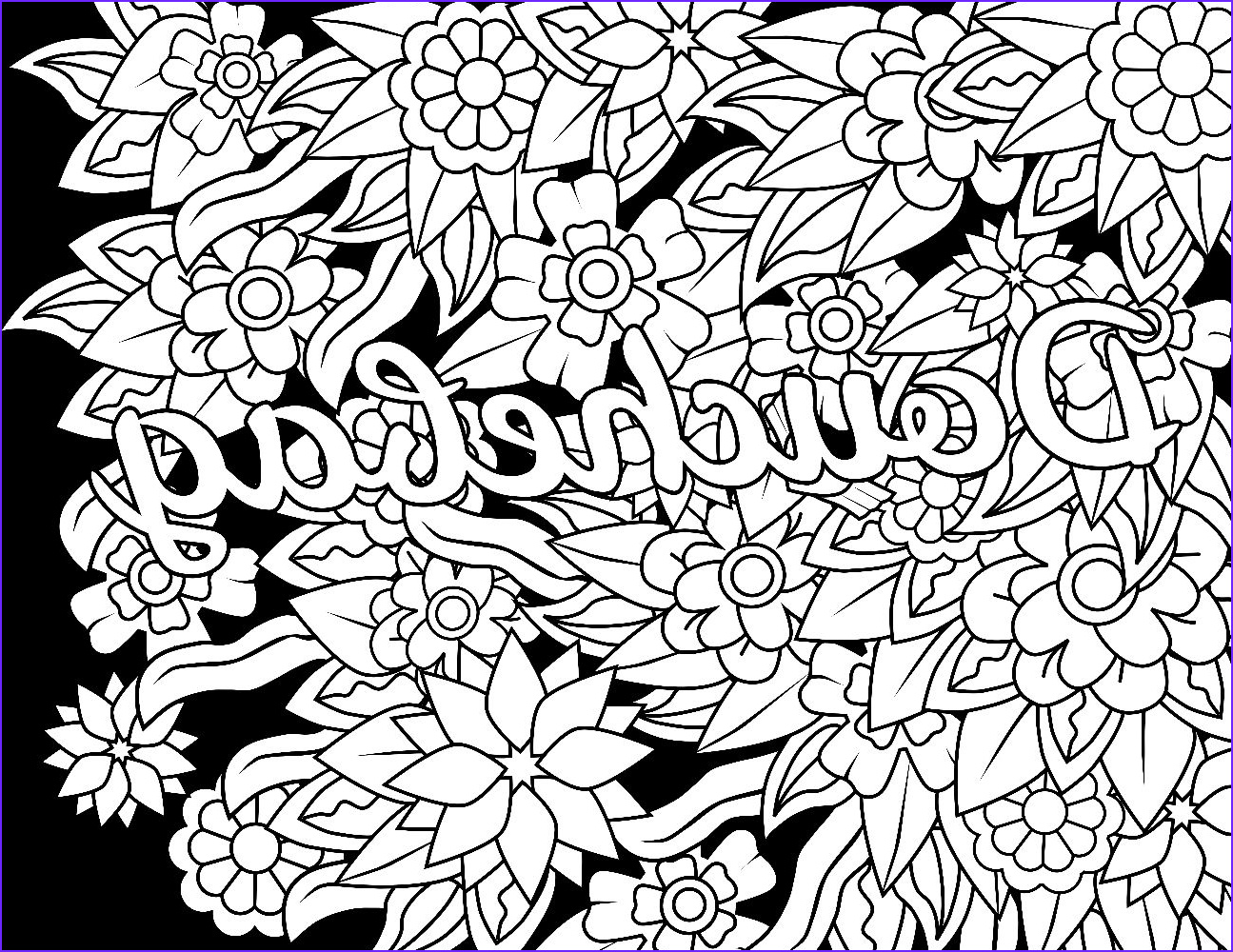 Coloring for Adults Swear Words Unique Photos Douchebag Swear Word Coloring Page Adult Coloring Page
