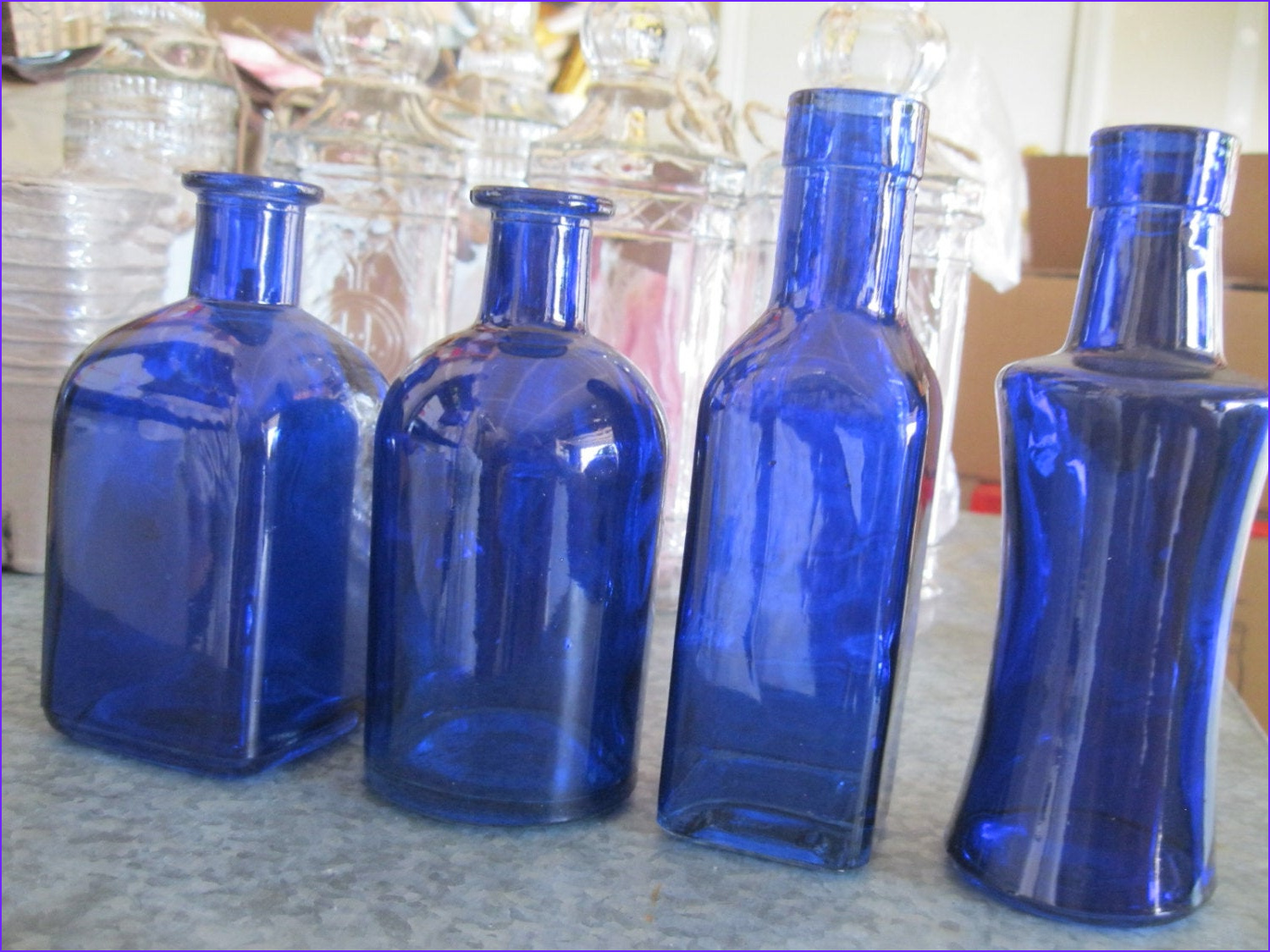 Coloring Glass Bottles Beautiful Images 4 Cobalt Blue Decorative Colored Glass Bottles by