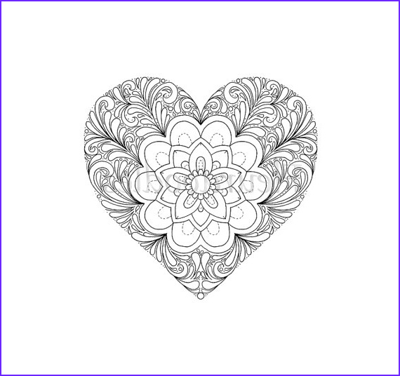 coloring page heart printable