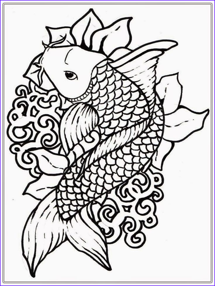 Coloring Page for Adults Printable Beautiful Collection Adult Free Fish Coloring Pages