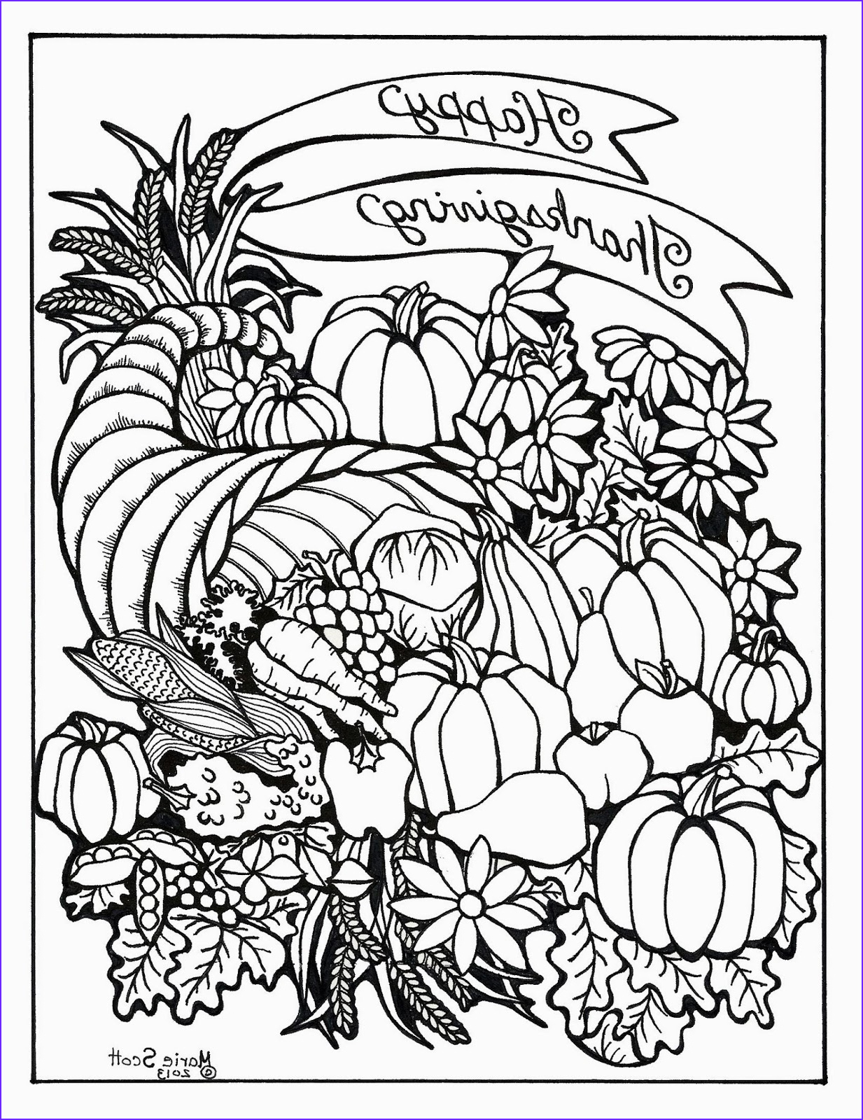 Coloring Page for Adults Printable Unique Stock Serendipity Hollow Thanksgiving Coloring Book Pages
