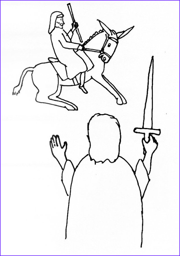 bible story coloring page for balaams donkey