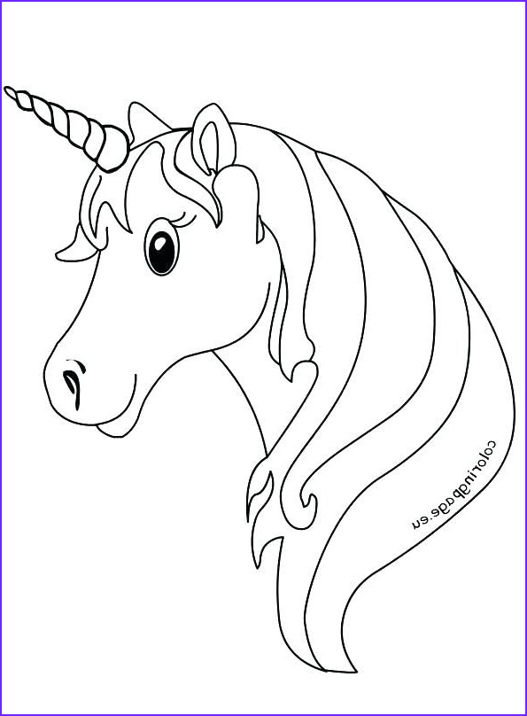 Coloring Page For Kids Unicorn Elegant Stock Unicorn Images To Color Unicorn Coloring Pages For