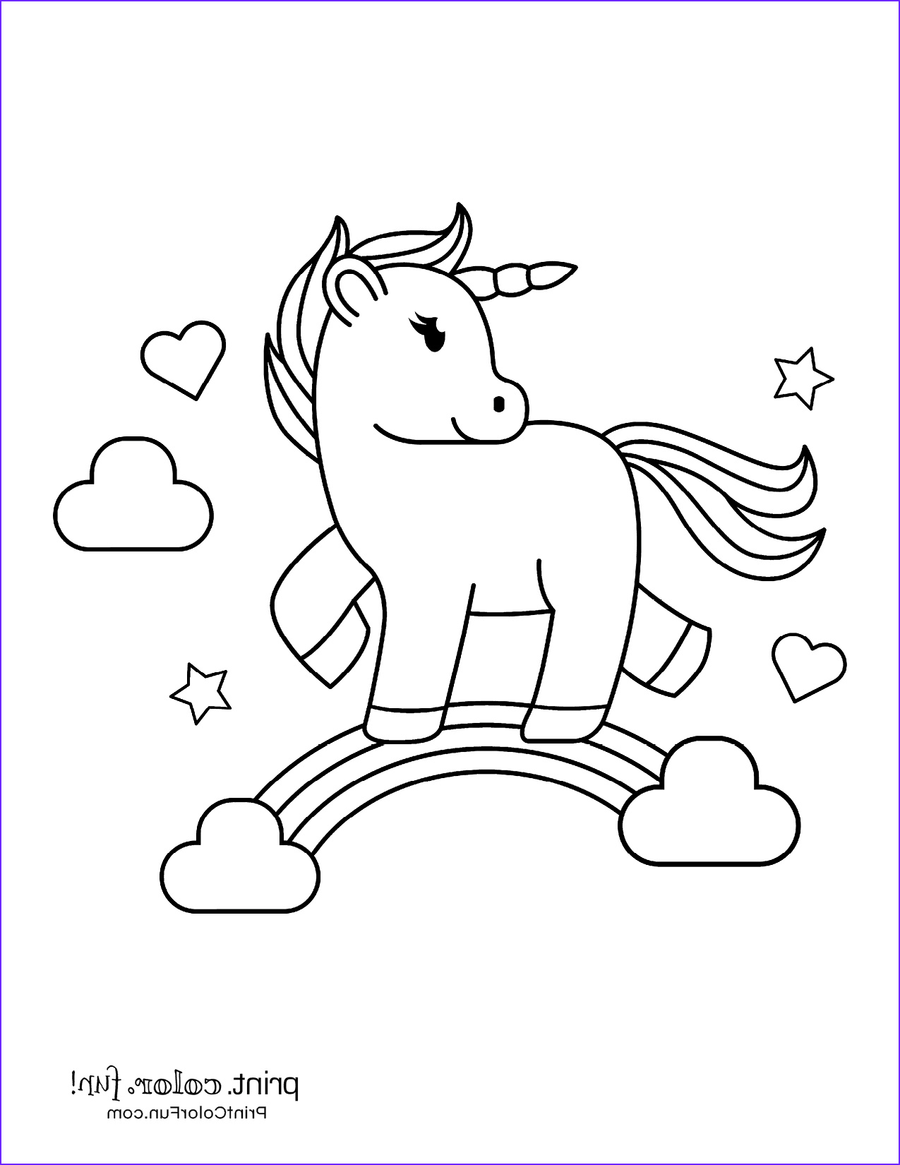 Coloring Page for Kids Unicorn New Photography Cute My Little Unicorn 5 Different Coloring Pages to