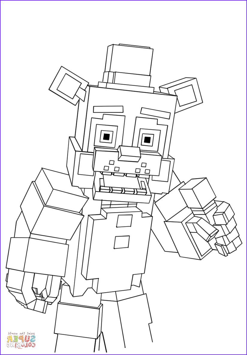 Coloring Page for Minecraft Awesome Photos Minecraft Freddy Coloring Page