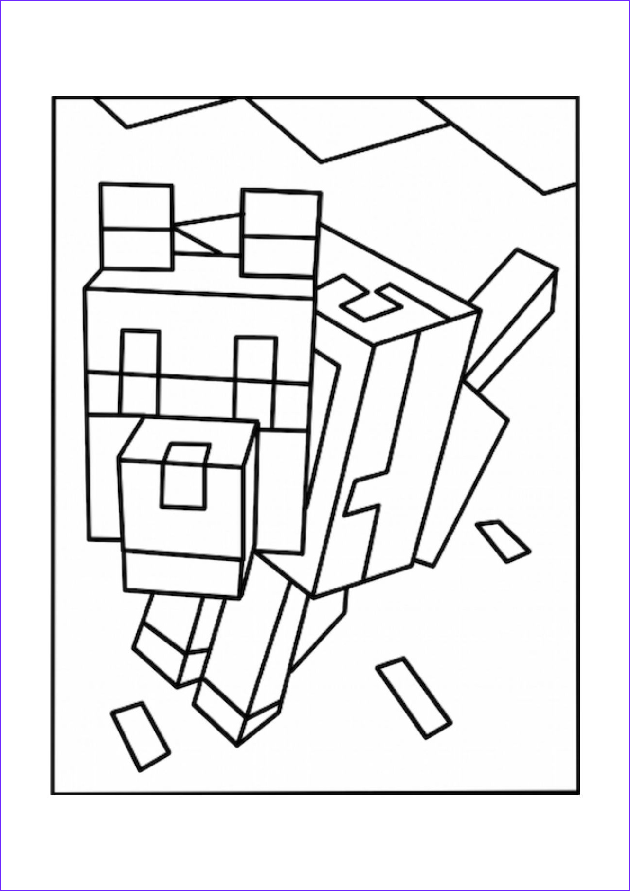 Coloring Page for Minecraft Inspirational Photos Minecraft Coloring Coloring Pages