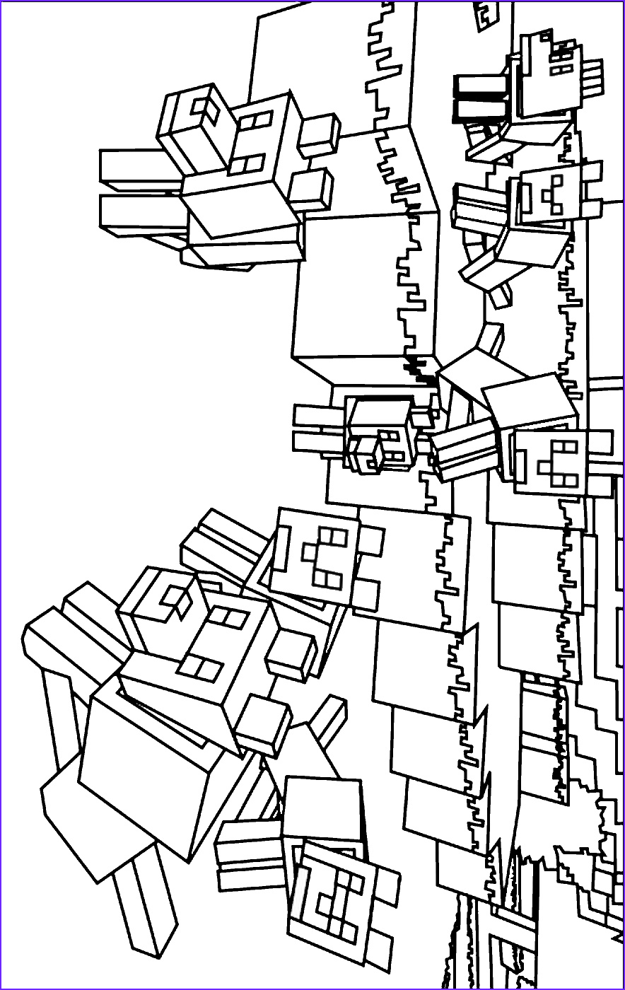Coloring Page for Minecraft Inspirational Stock Minecraft Coloring Pages Animals Coloring Home
