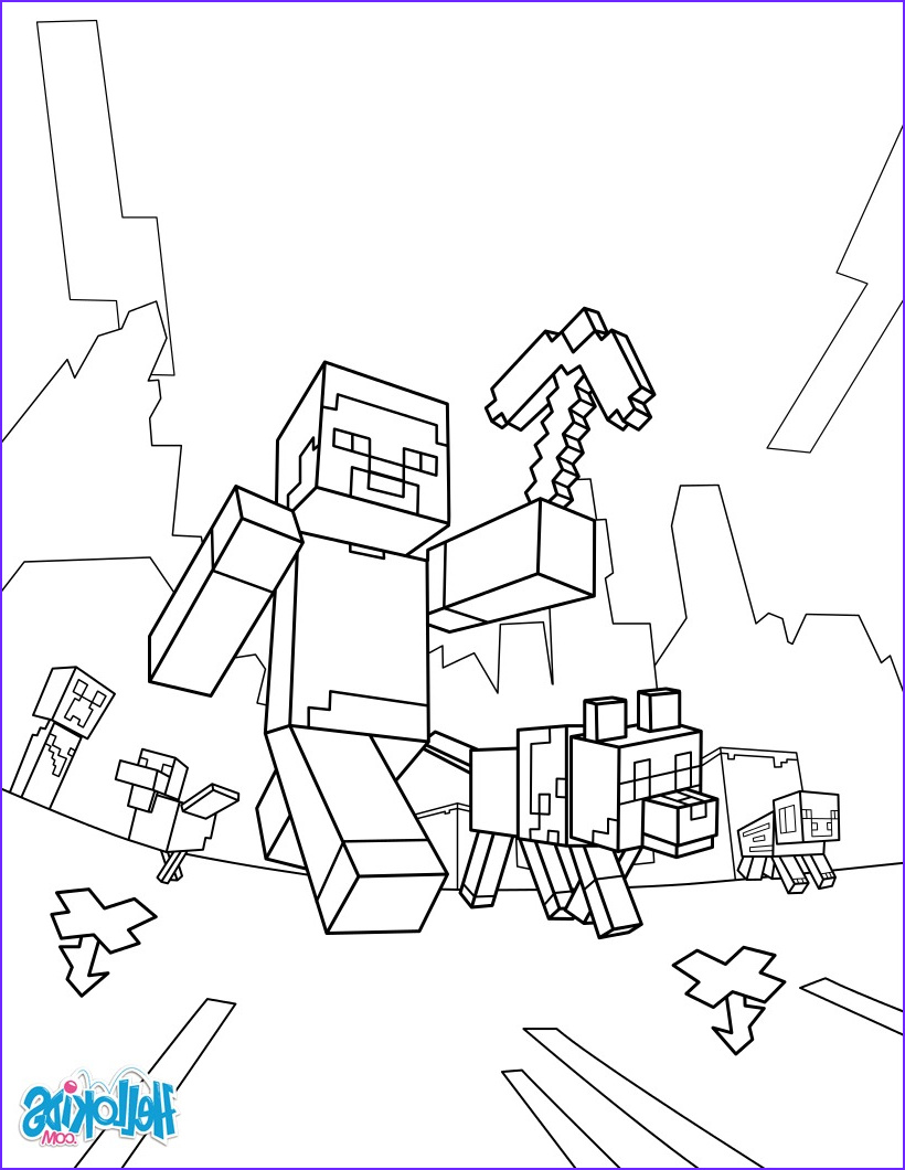 Coloring Page for Minecraft New Image Minecraft Coloring Page Taking A Walk Coloring Pages