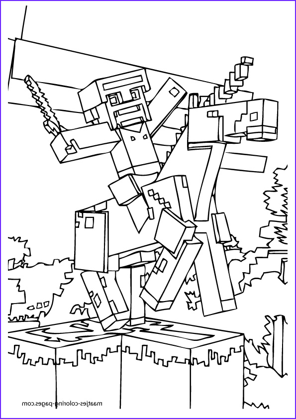 Coloring Page for Minecraft New Photos Printable Minecraft Coloring Pages Coloring Home