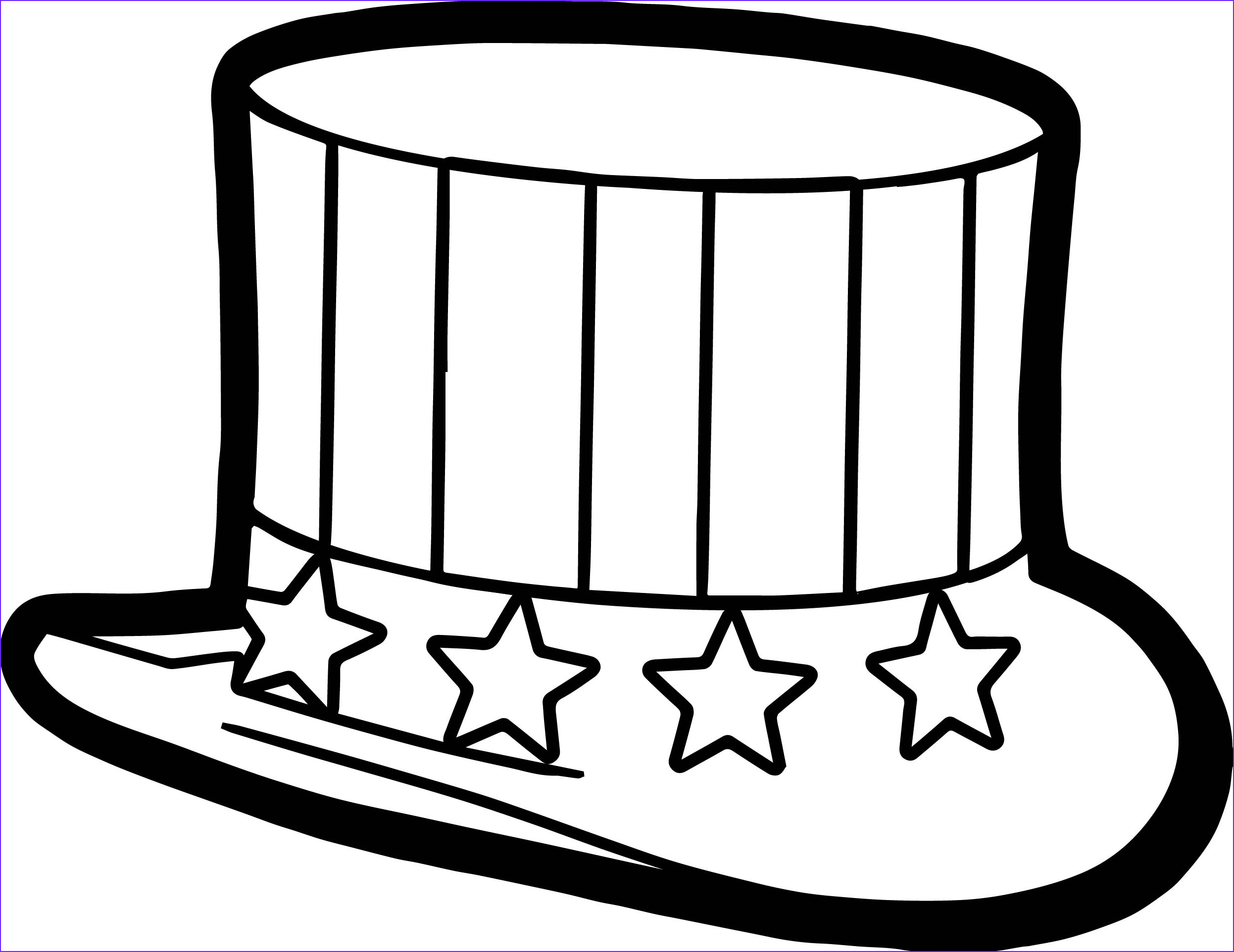 4th july hat coloring page