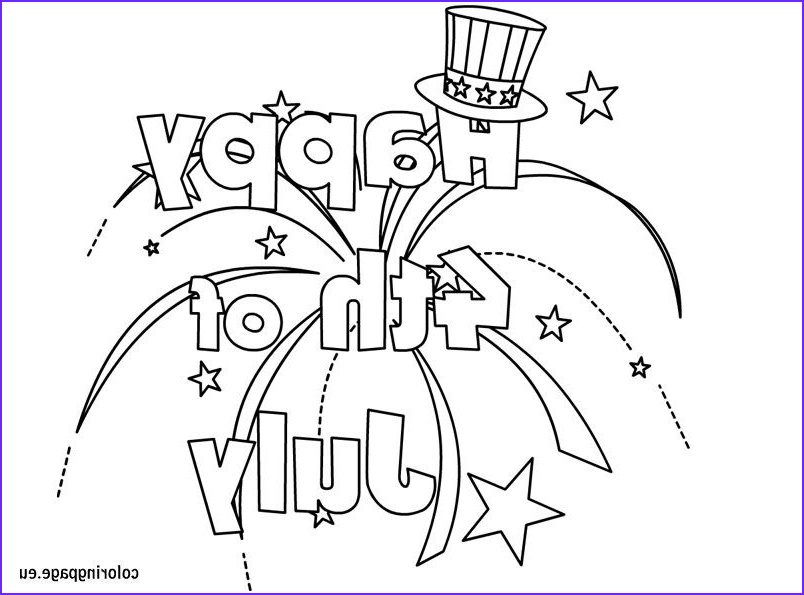 Coloring Page Fourth Of July Awesome Images Happy 4th July Coloring for Kids