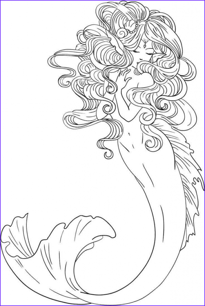 Coloring Page Mermaid Best Of Image 30 Stunning Mermaid Coloring Pages