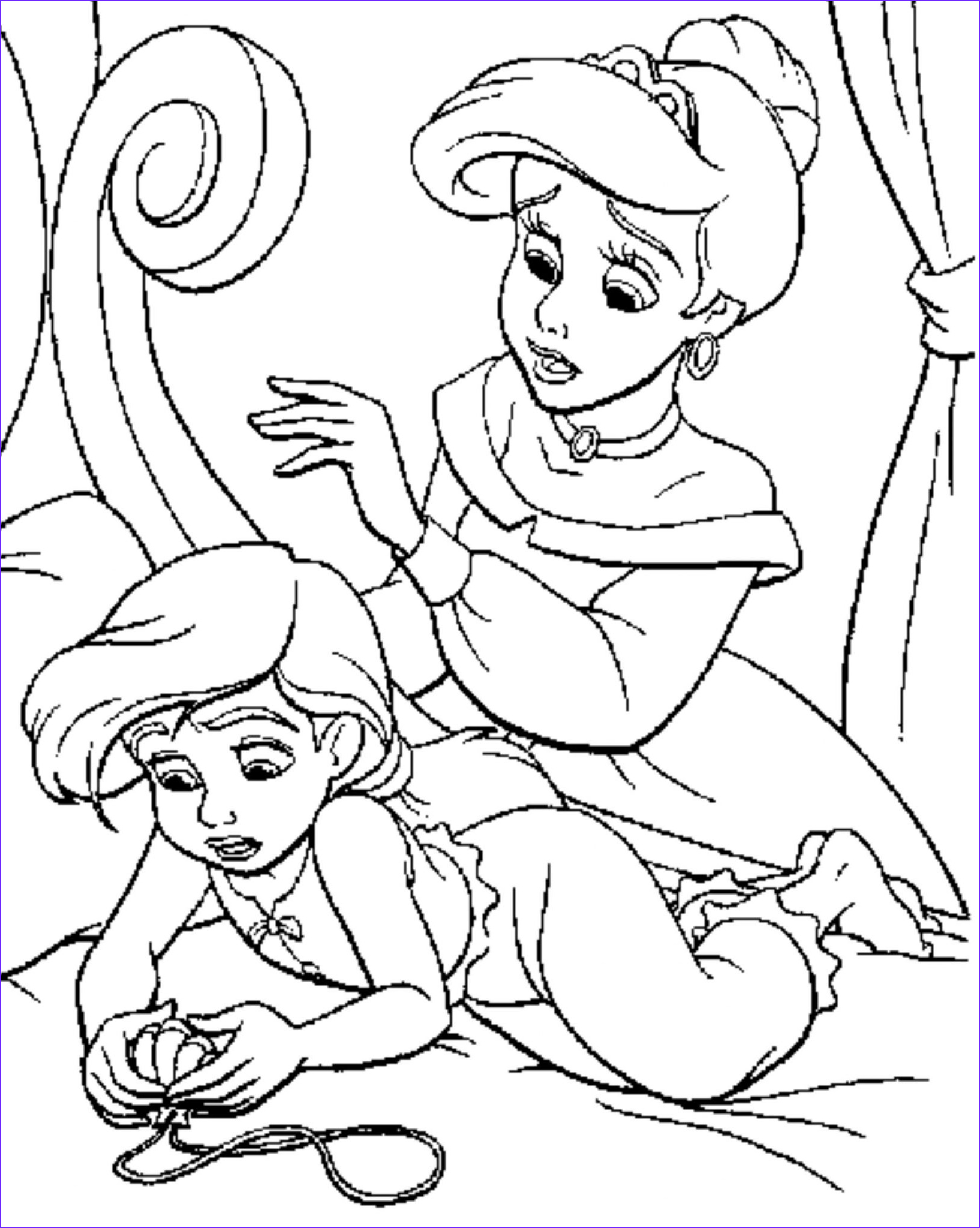 Coloring Page Mermaid Elegant Photography Print & Download Find the Suitable Little Mermaid