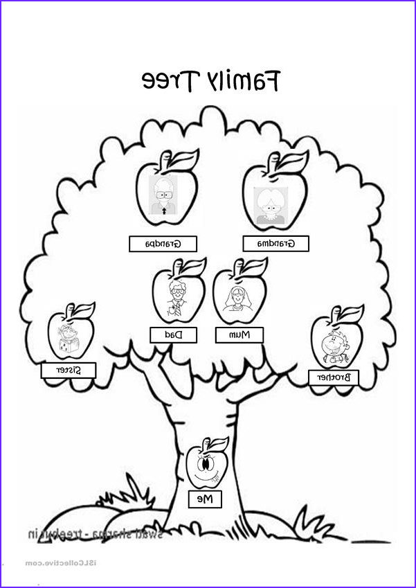 Coloring Page Of A Family Beautiful Stock Family Tree Coloring Page Worksheet Free Esl Projectable