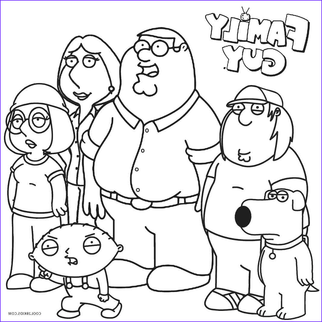 Coloring Page Of A Family Best Of Stock Printable Family Guy Coloring Pages for Kids