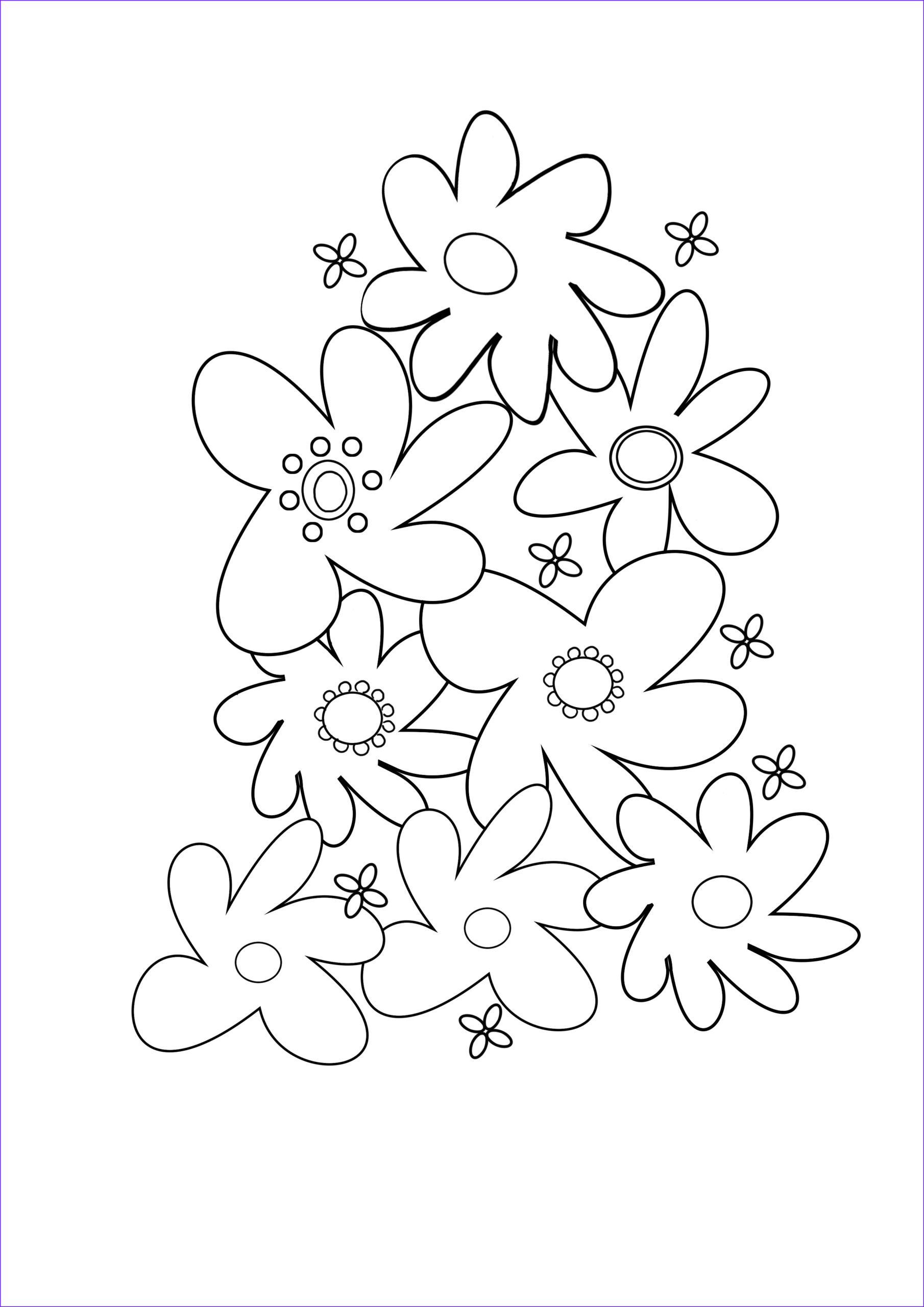 Coloring Page Of A Flower Best Of Stock Flower Coloring Pages