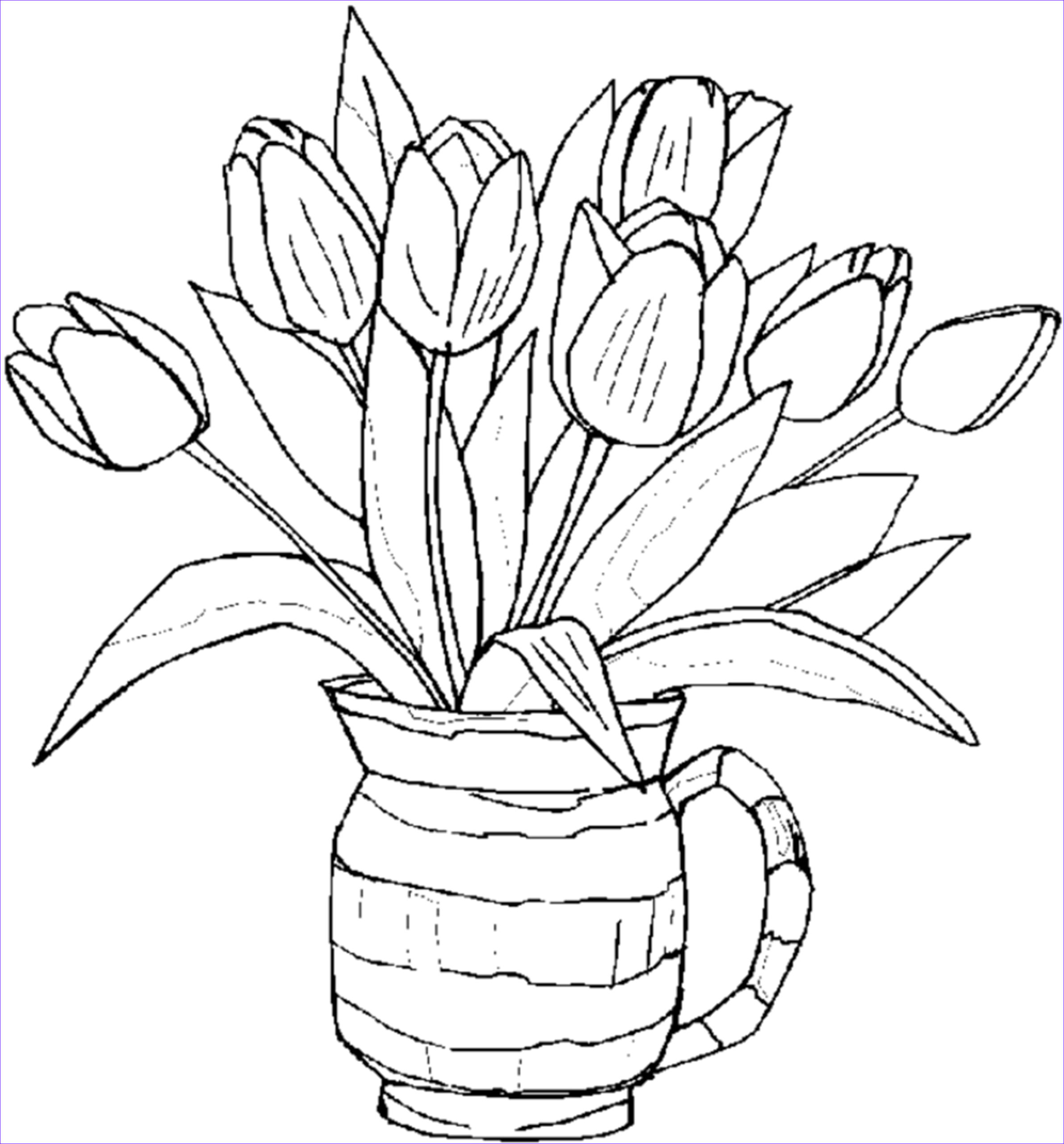 Coloring Page Of A Flower Elegant Photos Free Printable Flower Coloring Pages for Kids Best