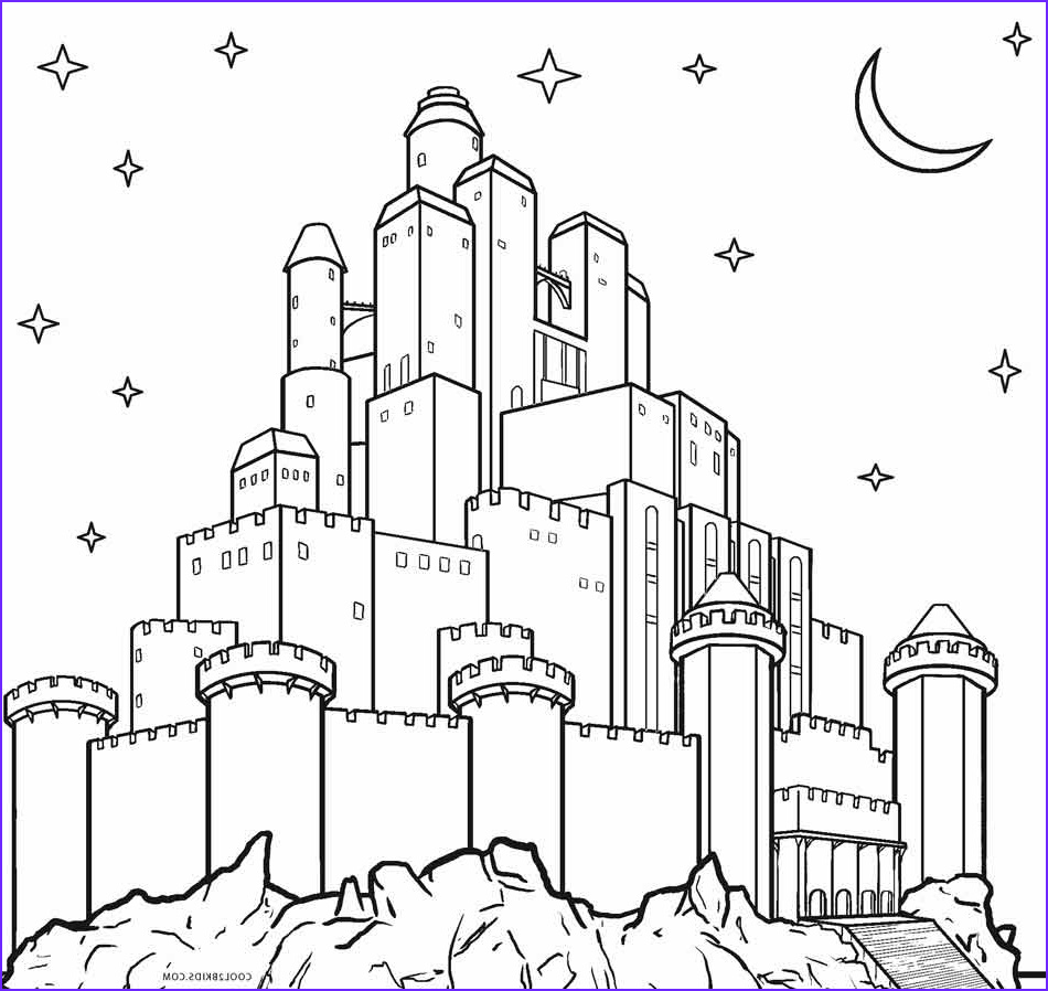 Coloring Page Of Castles Elegant Photos Printable Castle Coloring Pages For Kids