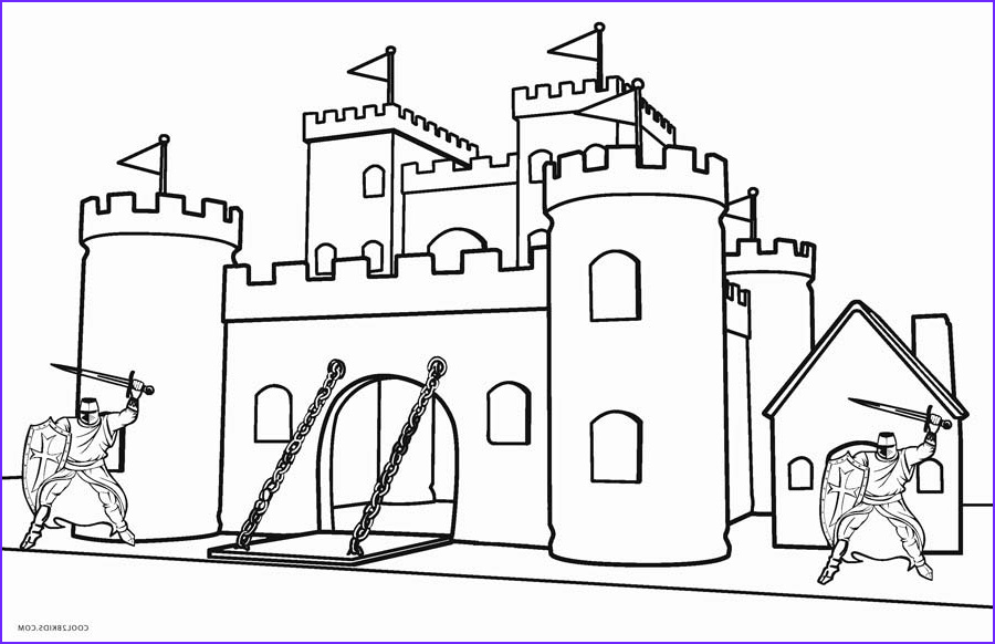 Coloring Page Of Castles Luxury Photography Printable Castle Coloring Pages For Kids