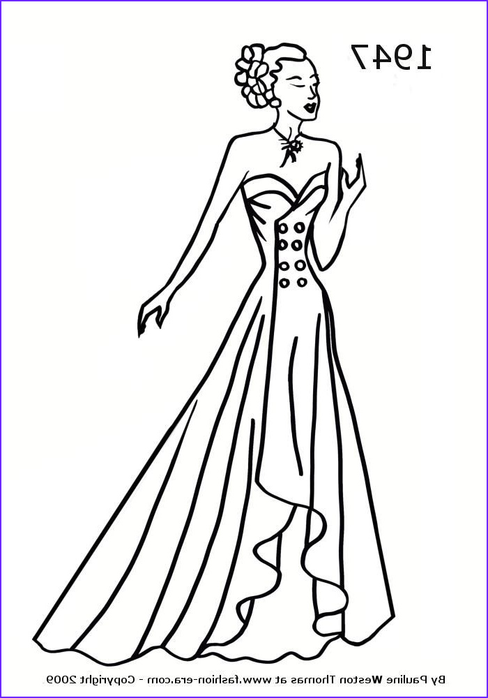 Coloring Page Of Fashion Dresses Cool Photos Fashion Coloring Pages