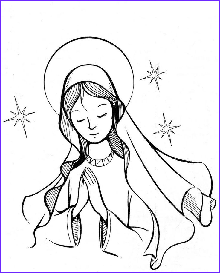 mother mary coloring page