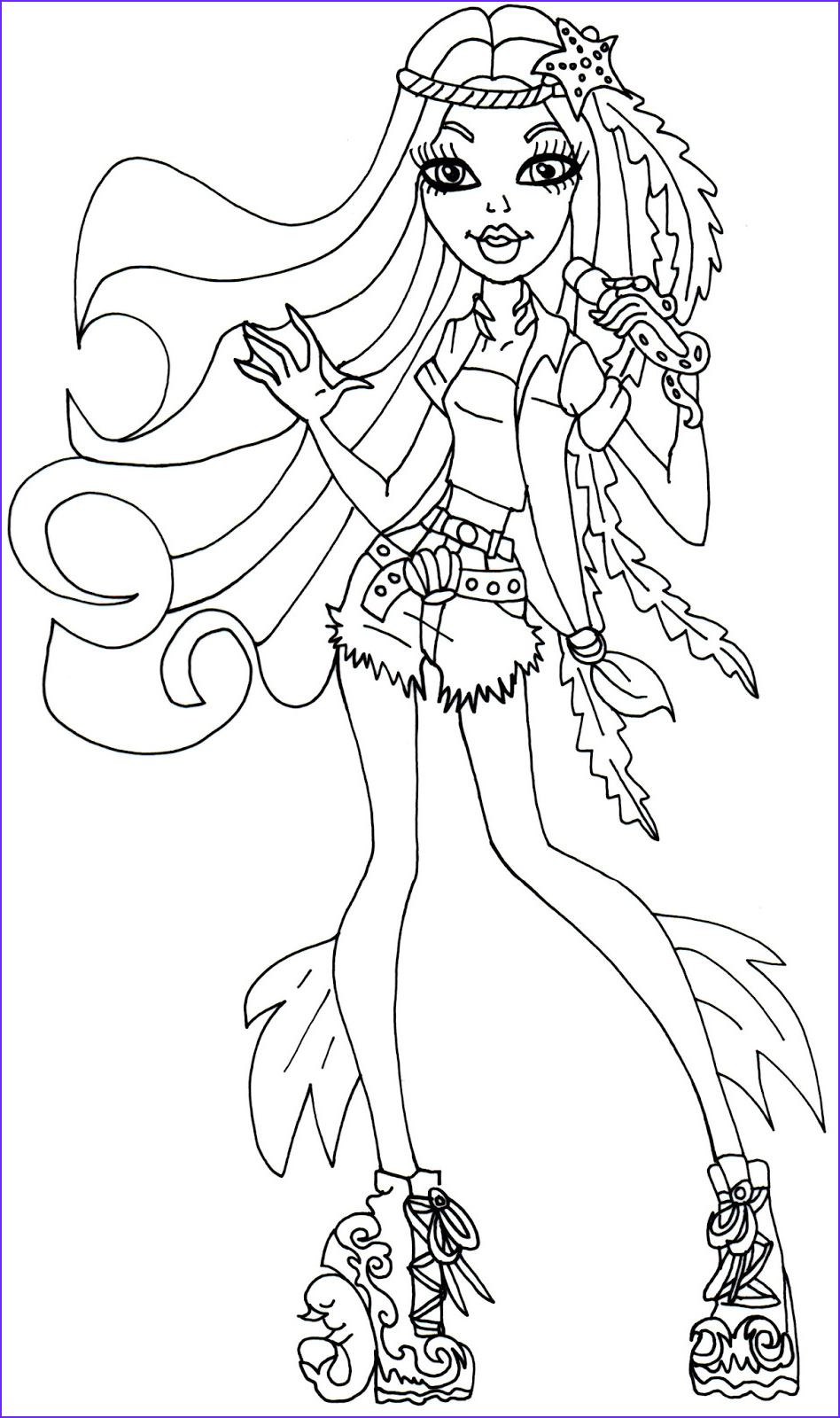 Coloring Page Of Monster High Awesome Image Free Printable Monster High Coloring Page for Madison Fear
