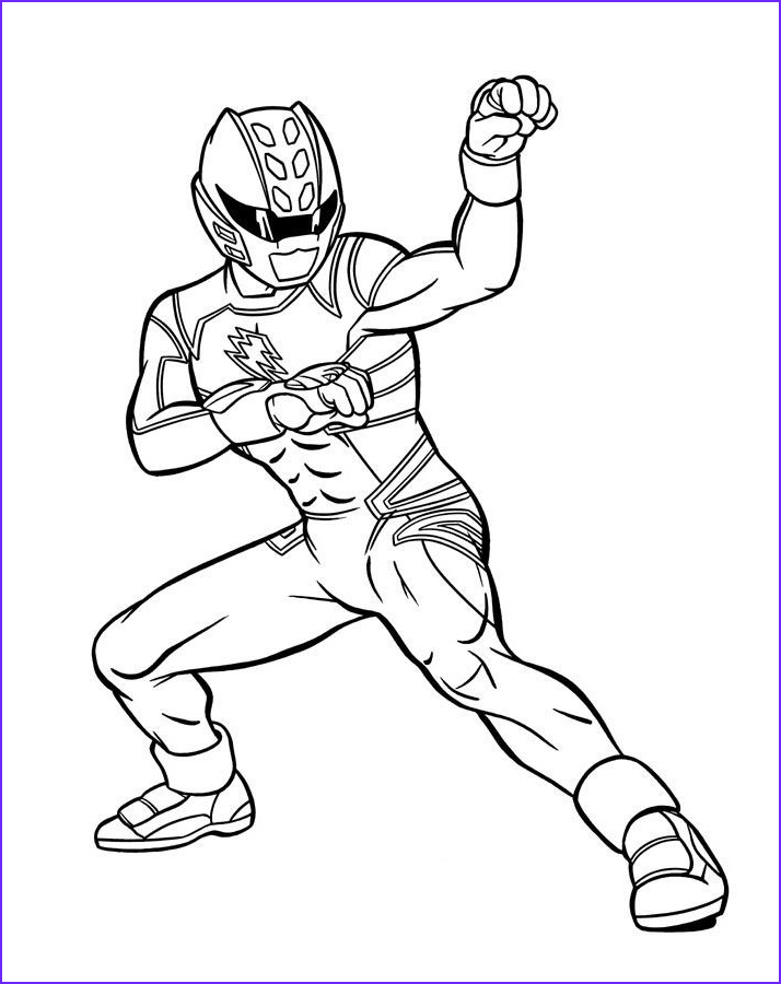 Coloring Page Of Power Rangers Cool Images Blue Power Ranger Jungle Fury