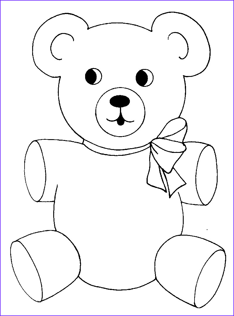 Coloring Page Of Teddy Bears Inspirational Photos Free Printable Teddy Bear Coloring Pages for Kids