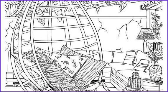 Coloring Page On Pinterest Awesome Collection Bohemian Patio Design Adult Coloring Page