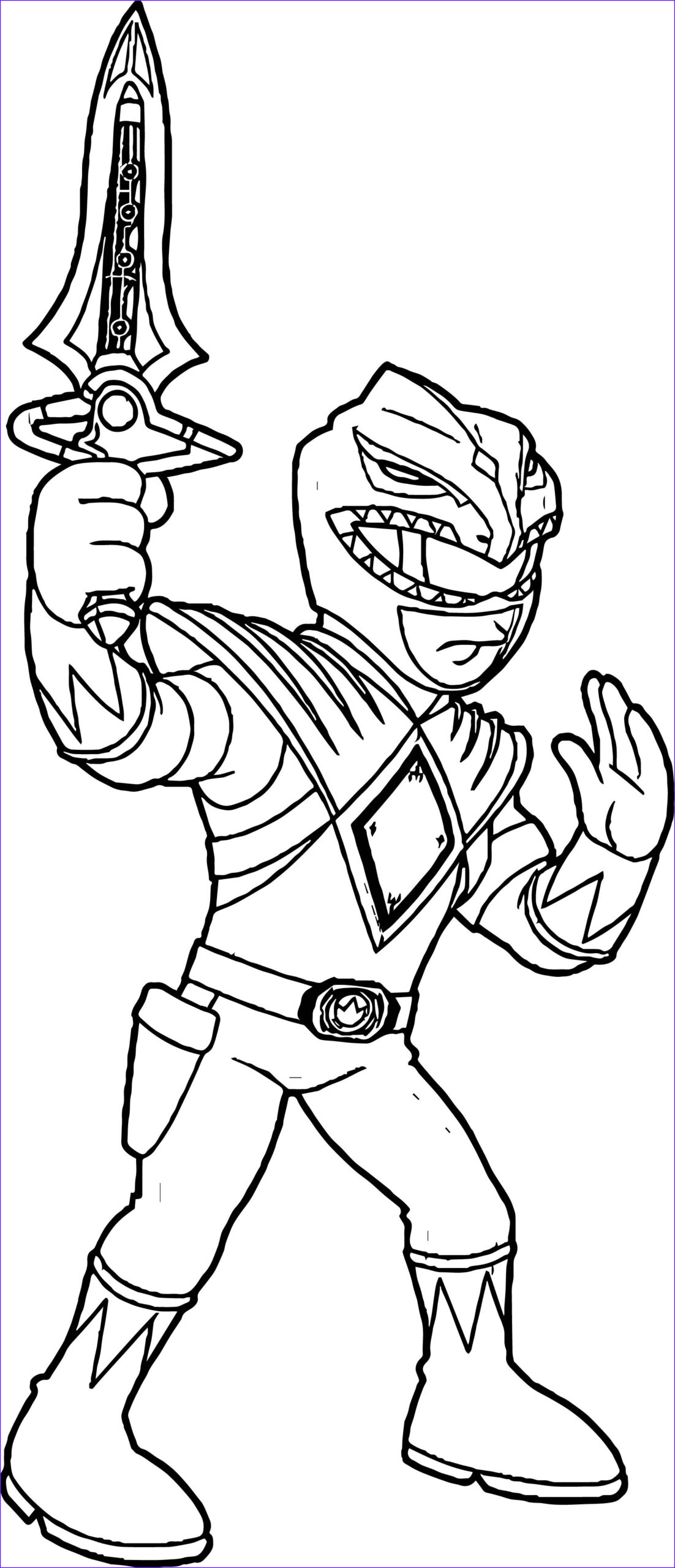power rangers green ranger coloring page