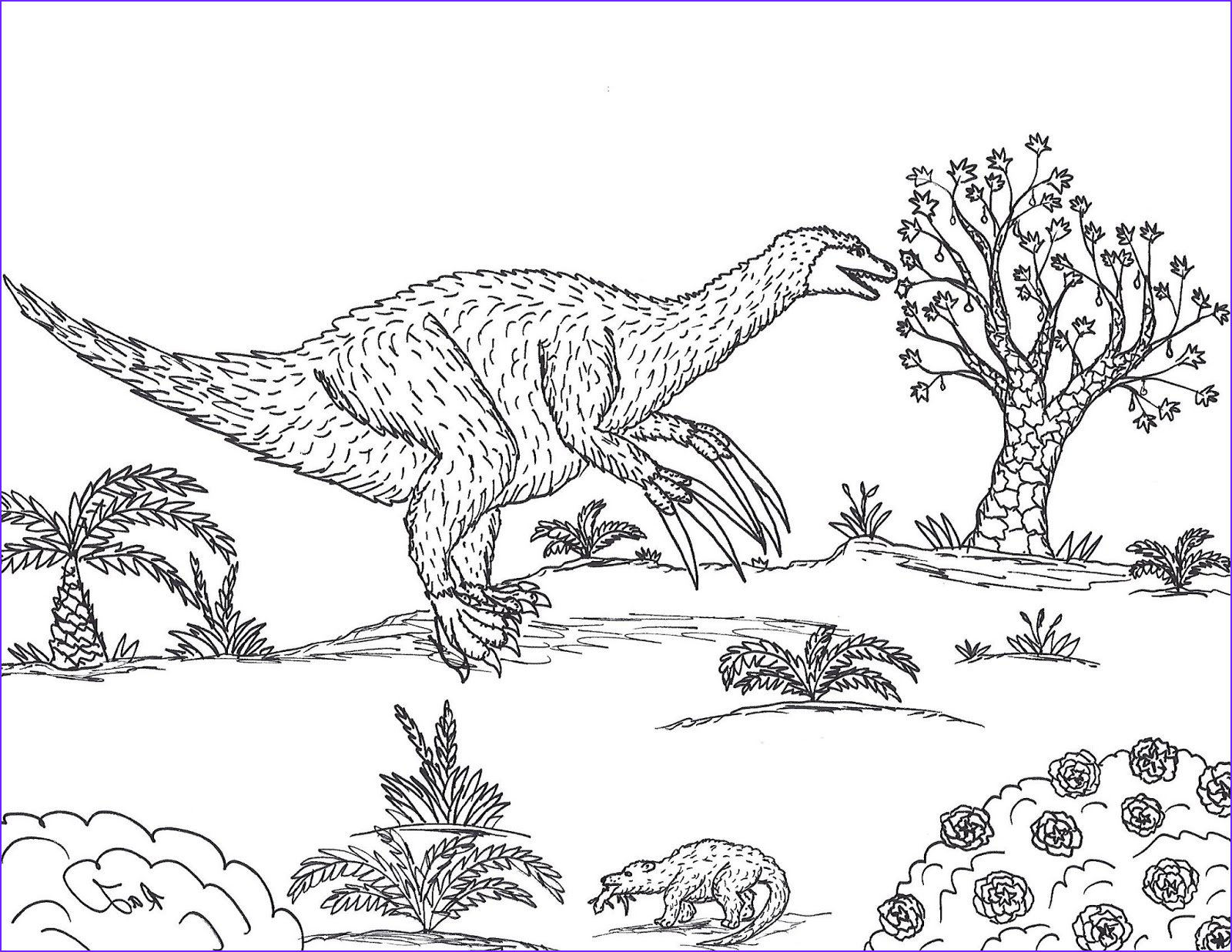 Coloring Page S Beautiful Gallery Robin S Great Coloring Pages therizinosaurus