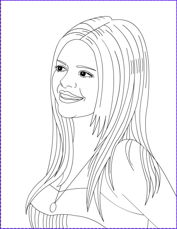 Coloring Page S Inspirational Collection Nicole S Free Coloring Pages Selena Gomez Coloring Pages