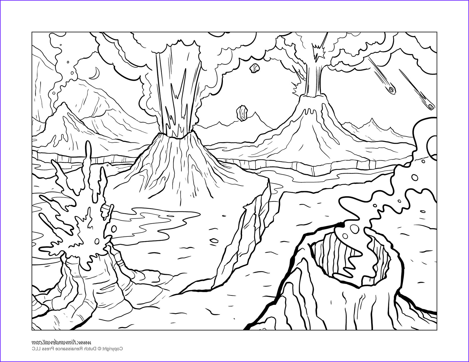 Coloring Page Volcano Beautiful Images Volcano Coloring Pages