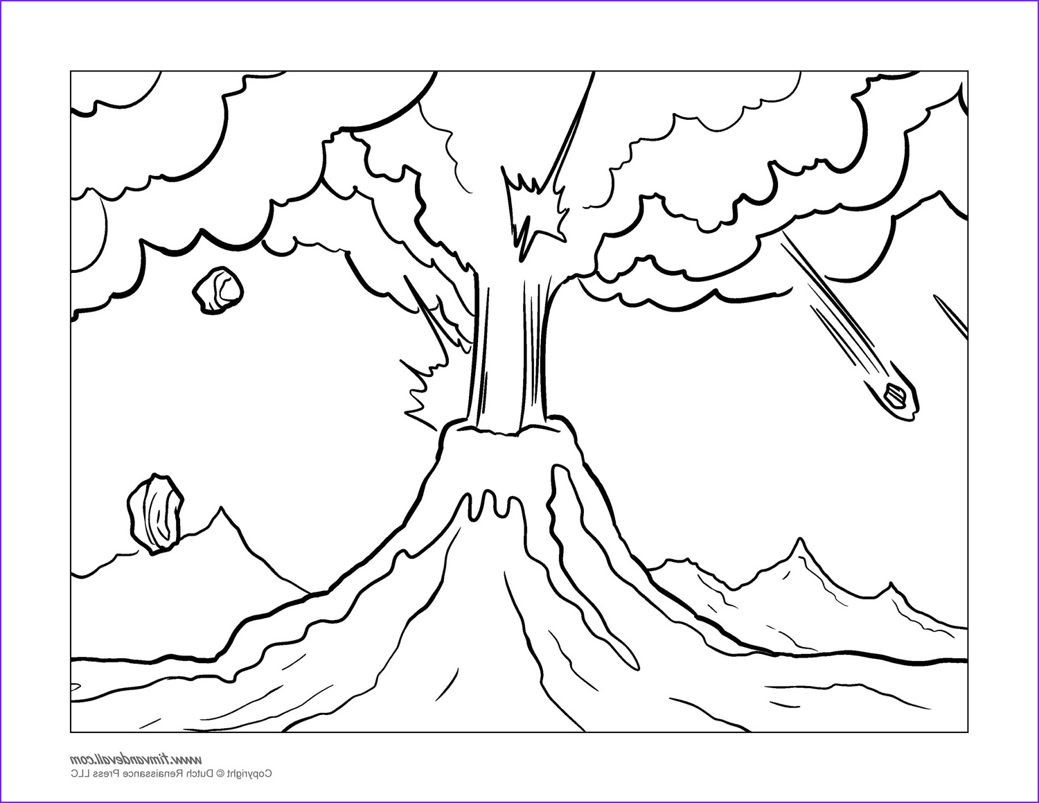 Coloring Page Volcano Best Of Collection Volcano Coloring Pages