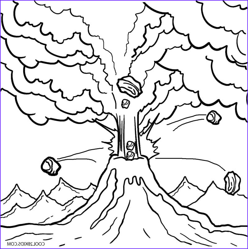Coloring Page Volcano Luxury Photography Printable Volcano Coloring Pages for Kids