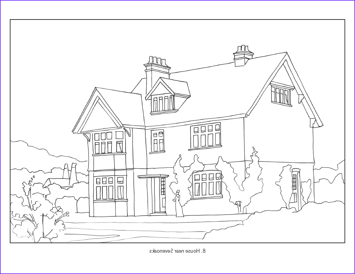 Coloring Picture Of A House Beautiful Photos Arts & Crafts Houses Coloring Book