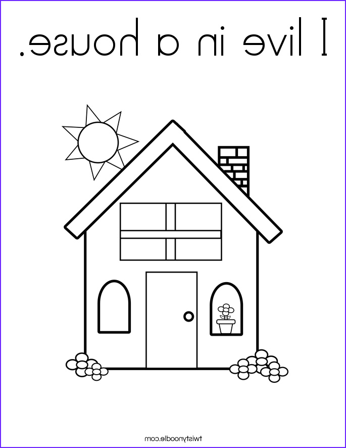 i live in a house coloring page