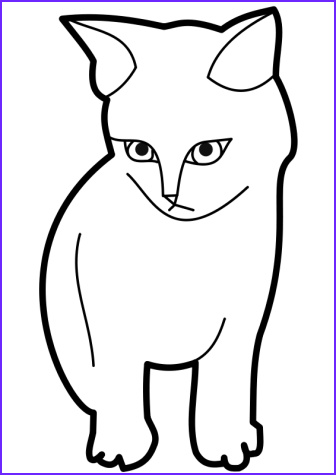 Coloring Picture Of Cats Awesome Images Cat Template Printable Clipart Best