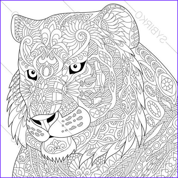 tiger coloring page animal coloring book