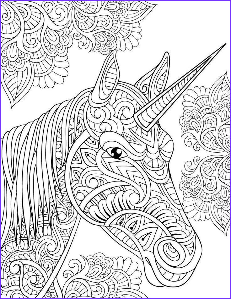 Coloring Picture Of Unicorns Awesome Gallery Amazon Unicorn Coloring Book Adult Coloring Gift A