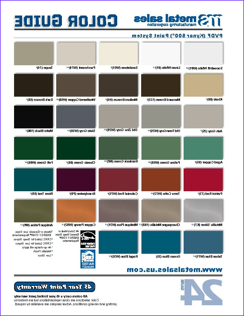 Coloring Steel with Chemicals Best Of Stock Metal Roofing and Siding Colors Finishes Guides and