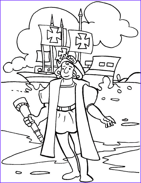 Columbus Coloring Page Unique Stock Christopher Columbus Day Coloring Page
