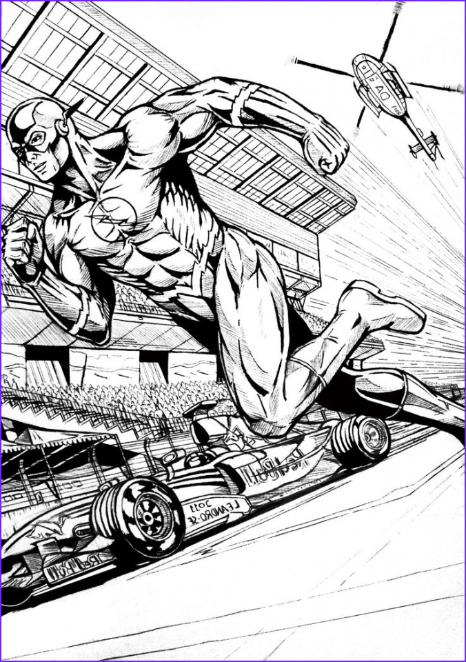 Comic Book Adult Coloring Book Best Of Photos Get This Line Flash Coloring Pages F8shy