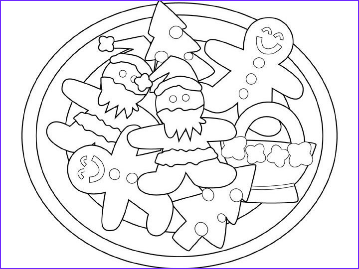 pages christmas cookie coloring sketch templates