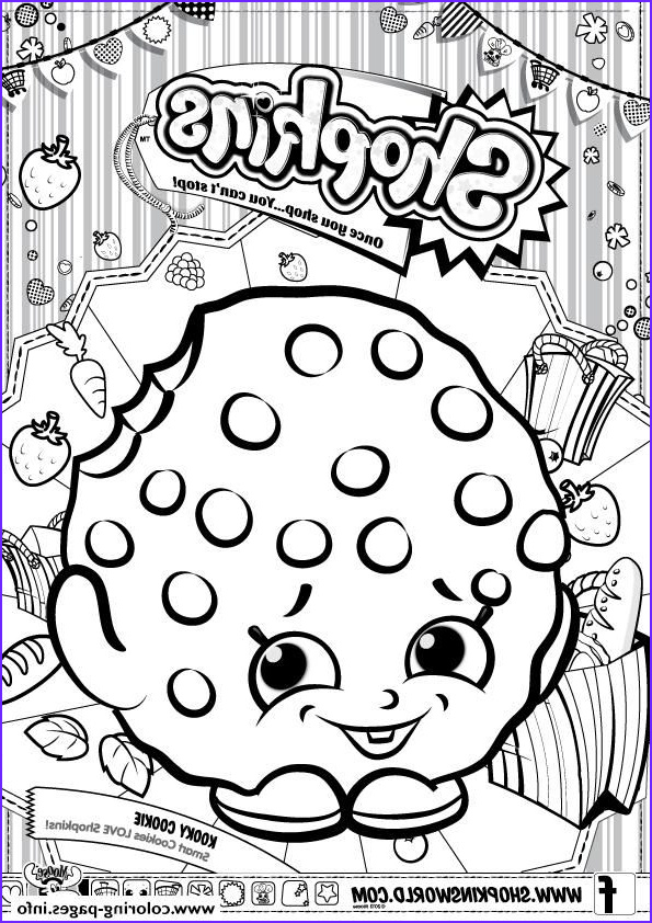 Cookie Cookie Coloring Page Beautiful Collection Print Shopkins Kooky Cookie Coloring Pages